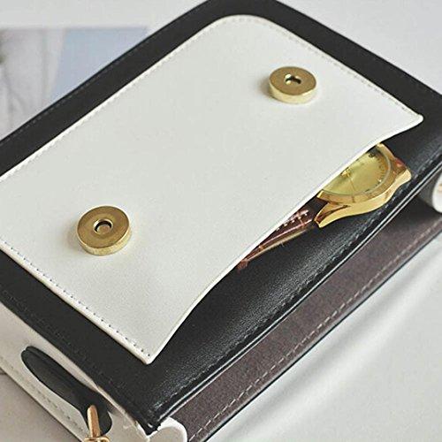Moda Donna Pu Pelle Catena Borsa Crossbody Spalla Borsa Messenger Telefono Borsa di Kangrunmy Beige