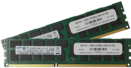 Ecc-buffered Memory Module (Samsung 16GB kit (2x8GB) Dual Rank x4 PC3-10600 (DDR3-1333) Registered ECC, CAS-9, 1.35V Server memory kit)