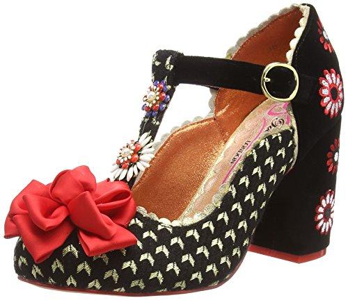 Poetic Licence by Irregular Choice Adore Me, Zapatos con Tacon y Tira Vertical para Mujer, Negro (Black B), 37 EU