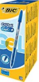 BIC Cristal Gel - Bolígrafo de tinta gel, trazo de 0,7 mm, color azul (20 unidades)