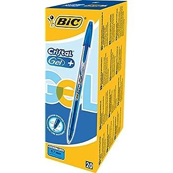 bic gel roller cristal gel mit kappe 0 35 mm schachtel 20 st ck blau. Black Bedroom Furniture Sets. Home Design Ideas