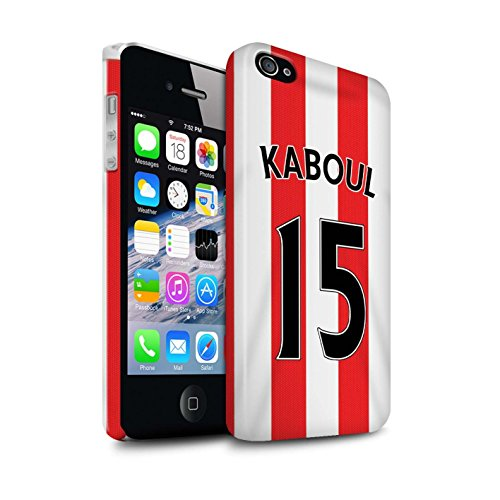Offiziell Sunderland AFC Hülle / Glanz Snap-On Case für Apple iPhone 4/4S / Pack 24pcs Muster / SAFC Trikot Home 15/16 Kollektion Kaboul
