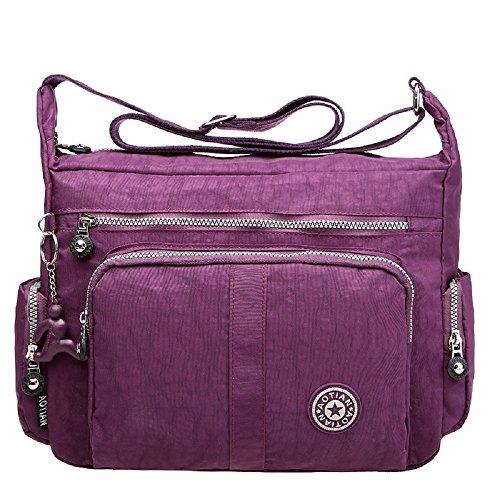 Xinweilan , Damen Rucksackhandtasche Violett