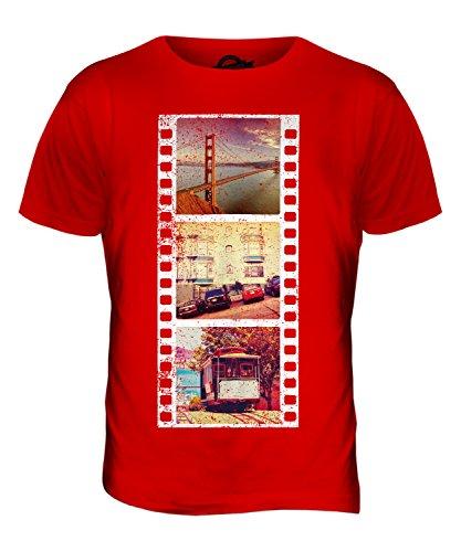 CandyMix San Francisco Fotografischer Film Herren T Shirt Rot