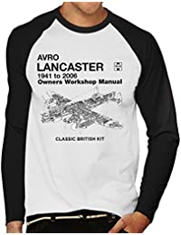 Haynes Owners Workshop Manual Arvo Lancaster 1941 To 2006 MenS Baseball Long Sleeved T-Shirt