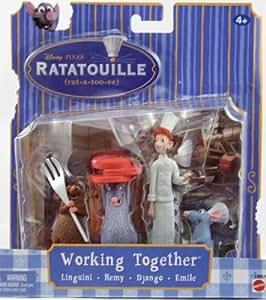 Disney Pixar - Ratatouille - Scènes du film - Travail d'Equipe - avec Linguini, Remy, Django, Emile