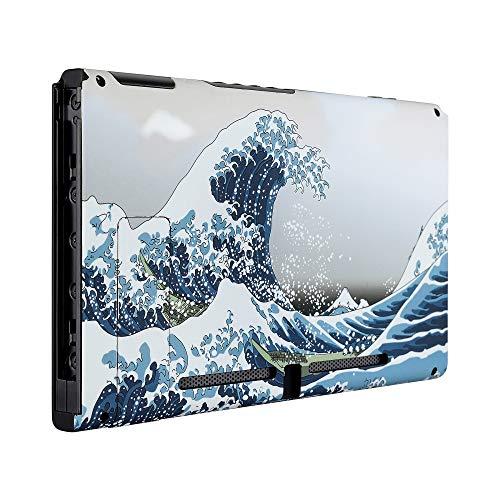 eXtremeRate Console Case Gehäuse Rückseite Hülle Schale Cover Schutzhülle Tasche Kit für Nintendo Switch Console mit Ständer(Welle)-Keine JoyCon Hülle