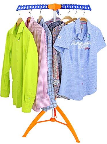 Bügelwäscheständer Wäschetrockner Wäscheständer Garderobenständer Kleiderständer mit 3 ausklapparen Kleiderhaken für 36 Bügel Blusen oder Hemden, original Made for us