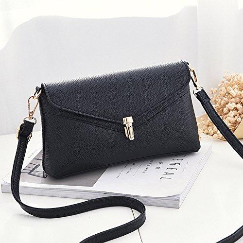 Tempo libero LiZhen femmina Messenger versione coreana di nuovo minimalista necessità selvatici cross-singole borse tracolla femmina piccolo pacchetto della sig.ra pacchetti, grigio scuro Nero