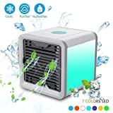 HKFV 3 in 1 USB Klima Ventilator Klimaanlage Klimaventilator Mobiles Klimagerät Luftkühler Mobile Klimageräte Air Cooler mit Wasserkühlung Zimmer Raumentfeuchter
