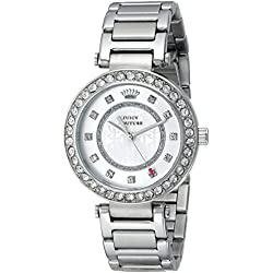 Juicy Couture Women's 1901150 Luxe Couture Analog Display Quartz Silver Watch