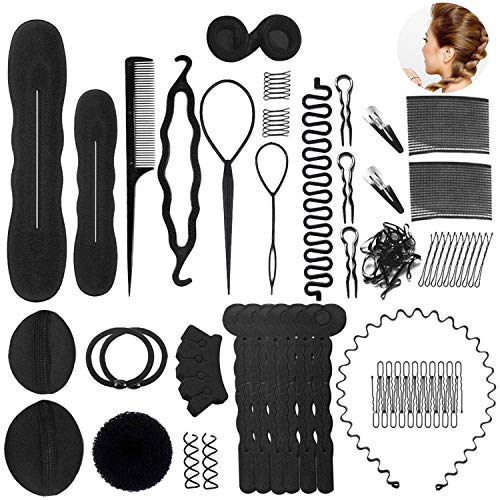 Haare Frisuren Set Umfangreich Haar Zubehör styling set für Unsterschiedliche Haarestyle, Hair Styling Tools mit Haar Clip, Hair Pins, Hair Styling Accessories....20 Arten Haare Frisuren Tool für DIY - Set Haar-clip,