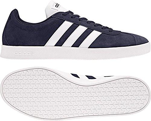 adidas Herren VL Court 2.0 Gymnastikschuhe Blau (Collegiate Navy/ftwr White/ftwr White)
