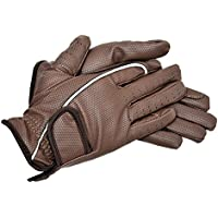 Riders Trend Embossed Synthetic PU Riding Gloves - Guantes de equitación