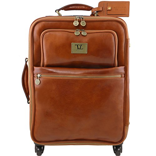 81413894 - TUSCANY LEATHER: TL VOYAGER - Trolley Ledertrolley - 2 Rollen, Braun Tuscany Leather