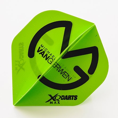 XQMax Michael Van Gerwen Dart Flights Grün 15 Stck