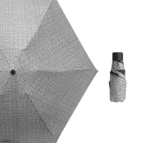 LYJZH Reiseregenschirm - Kompakter windfester Regenschirm - sehr leichtes und faltbares Design Sonnenschutz-Taschenschirm schwarzer Kunststoff-Sonnenschirm 50% Farbe8 90cm