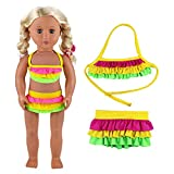 VILLAVIVI Sommer Kleidung Kleider Badeanzug Bikini Puppen für 46-50cm Puppen Stehpuppe 18 Zoll Inch...