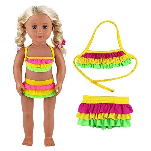 VILLAVIVI Sommer Kleidung Kleider Badeanzug Bikini Puppen für 46-50cm Puppen Stehpuppe 18 Zoll Inch American Girl Dolls Puppenbekleidung