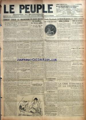 PEUPLE (LE) [No 811] du 27/03/1923 - COMMENT EVOLUE LE BOLCHEVISME E. STALINSKY - LES TAILLEURS DE PIERRE ET LES MARBRIERS DE ROUBAIX OBTIENNENT SATISFACTION - UN CONFLIT A L'USINE DE DION - LES TRAVAUX DES EXPERTS ALLIES A LONDRES - UN GRAND MEETING DES TRAVAILLEURS DES SERVICES PUBLICS - LA REPRESSION COUTE CHER A L'ETAT LIBRE D'IRLANDE - SARAH BERNHARDT EST MORTE HIER SOIR - LES ZONES SUISSES - LA FRANCE A FAIT UN FAUX PAS - LE DELIT D'OPINION - UN DOUBLE MEURTRE - LA REFORME DES PENSIONS CI