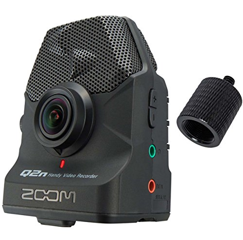 Zoom Q2n Handy Audio Video HD Recorder + KEEPDRUM SA Stativ Adapter