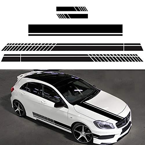 BONNIO Auto Aufkleber Vinyl Racing Streifen Aufkleber Aufkleber für Auto Dekoration Motorhaube Motorhaube Dach Kofferraum