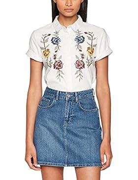 Only Onlgala S/S Shirt Flower Wvn, Blusa Para Mujer