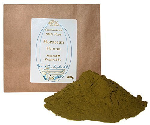 500g Moroccan Henna Powder Hair Dye, 100% Pure and Natural. Additive Free. Covers Grey Hair