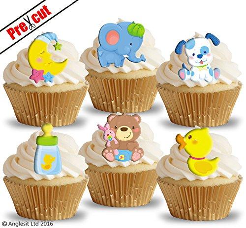 dliche Baby Toys II. essbarem Reispapier/Waffel Papier Cupcake Kuchen Topper Party Baby Dusche Geburtstag Kinder Kinder Dekorationen (Teddy Bear Baby-dusche Dekorationen)