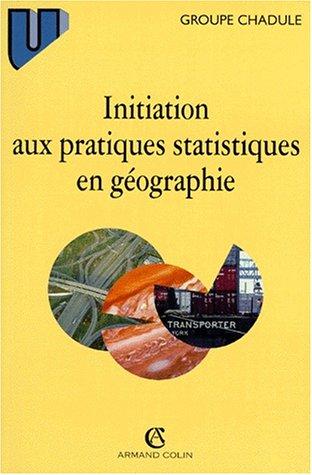 Initiation aux pratiques statistiques en géographie