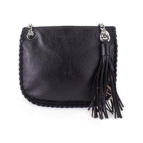 Michael Kors Black Whipped Chelsea Small Leather Messenger Bag $328