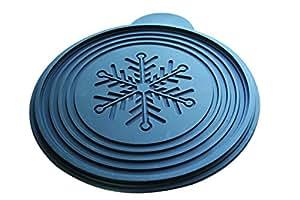 Disque relief professionnel décor flocon, à 240 mm de diamètre