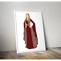 Game of Thrones Ispirato cersei lannister Stampa poster regali - Poster TV/film alternativi in varie dimensioni (cornice non inclusa)