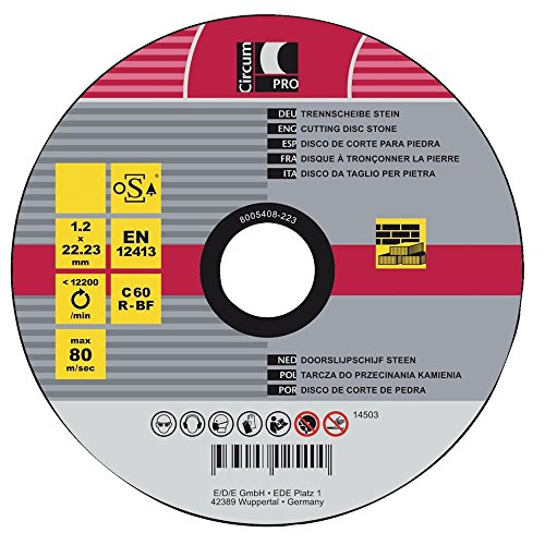 CircumPRO 4333097025400 Trennscheibe 125x1, 2mm für Stein