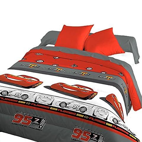 Bleu Câlin Couette Disney Cars 3, 140x200 cm 1 Personne, Rouge/Gris, Fabrication Française DRI301400LIGH