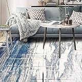 Bin Bin Hochwertiger Teppich, Blaue und Weiße Polypropylen-Bodenmatte, Rechteckig