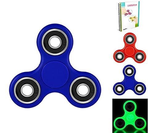 Meilleur Fidget Spinner - Roulements en céramique Premium 2-3 minutes de spin continu! Construction robuste et lourde | Amélioration du stress et du stress | | Aussi génial pour l'angoisse d'anxiété de TDAH | Les enfants et les adultes adoreront.