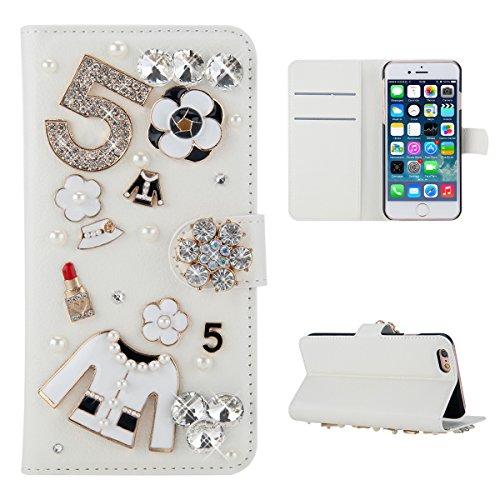 Meizu Pro 7 Hülle, PU-Leder Handytasche Brieftasche Shell Strass-Design Handyhülle Flip Stand Stoßfestes Telefon Folio Cover mit Magnetver schluss für Meizu Pro 7 (Clothes)