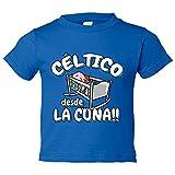 Camiseta niño Céltico desde la cuna Celta Vigo fútbol - Azul Royal, 3-4 años