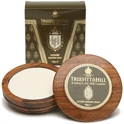 Truefitt & Hill Luxury Shaving Soap in Wooden Bowl 99g (Bowl Refill Shave)