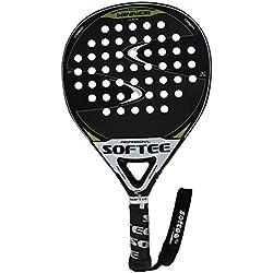 Softee Equipment 0013866 Pala Winner Mate Verde de Pádel, Blanco, S