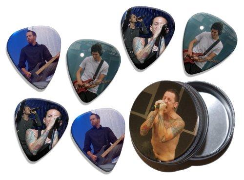 6 X Live Performance Guitarra Picks in Tin Linkin Park WK