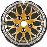 Speichenschutz für Rollstuhl (ein Paar) Die Größe entspricht dem Außendurchmesser und der Form der Befestigungslaschen der Handlauf, sehr einfach anzubringen, MetaL Gold