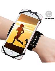 """eu. insmax iPhone 7/7Plus/6/6S Plus Running Sport Armbandes, 180° drehbar Unterarm Handy Halterung für Outdoor Radfahren Gym Joggen kompatibel mit Samsung Galaxy S8/S8Plus/S7/S7Edge & 10,2cm -6.2""""Smartphone"""