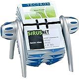 Durable Visifix Flip Rotationskartei mit 200 Visitenkartenhüllen (für 400 Visitenkarten) in silber