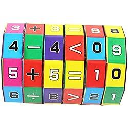 TT_Nouveaux Enfants Enfants Mathématiques Chiffres Cube Magique Jouet Puzzle Jeu Cadeau