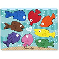 Melissa & Doug Colourful Fish Wooden Chunky Puzzle (8 pcs)