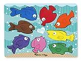 Melissa & Doug Holzpuzzle mit klobigen Teilen - Bunte Fische (8 Teile)