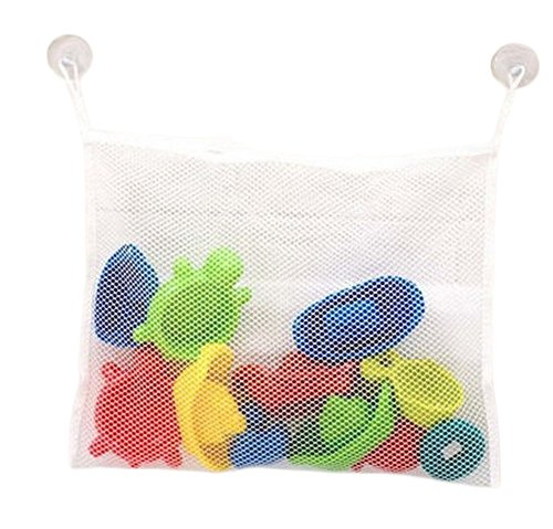 lumanuby Aufbewahrungstasche für Bad Toys Halt Staubbeutel Badregal Net Tasche mit Saugnapf für Badezimmer Aufbewahrung und Organisation, White#2, 35*45CM (Die Organisation Net)