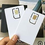Anordsem Schreibbare Programmierbare Leere Sim USIM Karte 4G LTE WCDMA GSM Nano Mikro-Sim Karte 2FF 3FF 4FF für Telekommunikations-Betreiber (5 Stücke)